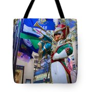 Christmas Trumpeter At The Rock Tote Bag