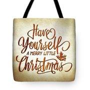Christmas Typography 01 Tote Bag