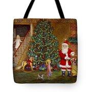 Christmas Visitor Tote Bag by Linda Mears