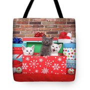 Christmas With Kittens Tote Bag