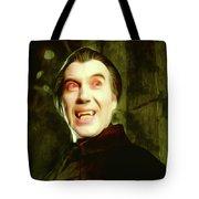 Christopher Lee, Dracula Tote Bag