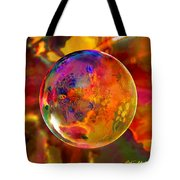 Chromatic Floral Sphere Tote Bag