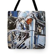 Chrome Harley Tote Bag