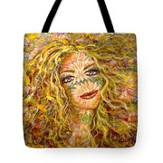 Chrysanthemum Girl Tote Bag