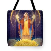 Chrysanthemum - Light In The Darkness Tote Bag