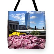 Chrysanthemums And Cirrus  Tote Bag