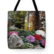 Chrysanthemums In The Garden Tote Bag