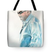 Chubby Chandler Watercolor Tote Bag