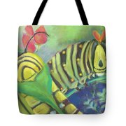 Chubby Little Caterpillars Tote Bag