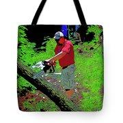 Chuck Chainsaw Tote Bag