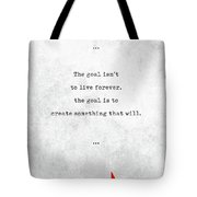Chuck Palahniuk Quotes - Literary Quotes - Book Lover Gifts - Typewriter Quotes Tote Bag