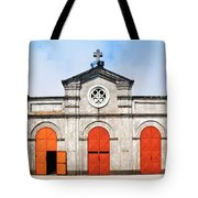 Church And Bicycle Tote Bag