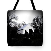 Church And Cemetary- Lens Tote Bag