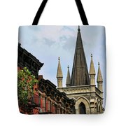 Church Architecture Older Nyc  Tote Bag