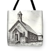 Church Bodie Ghost Town California Tote Bag