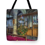 Church Christmas Tree Tote Bag