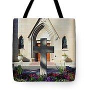 Church Entrance Cross Tote Bag