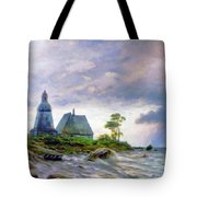 Church House By The Sea Tote Bag by Isabella Howard