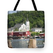 Church In Boothbay Tote Bag