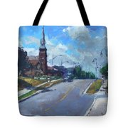 Church In Georgetown Downtown  Tote Bag