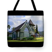 Church In Hanalei Kauai  Tote Bag