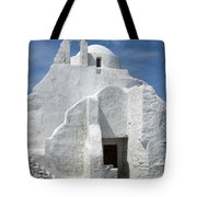 Church In Mykonos Tote Bag