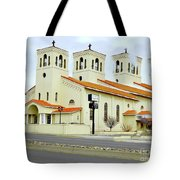 Church In New Mexico Multiplied Tote Bag
