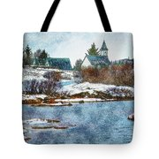 Church In Thingvellir Tote Bag