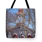 Church In Woods Tote Bag