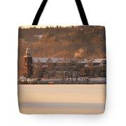 Church Landing In January Tote Bag