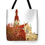 Church Next Door Tote Bag
