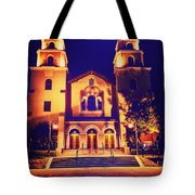 Church Night Tote Bag