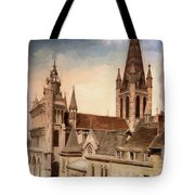 Church Of Notre-dame Of Dijon France - Remastered Tote Bag