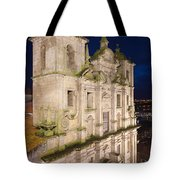 Church Of Saint Lawrence By Night In Porto Tote Bag