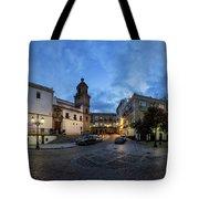 Church Of Santo Domingo Panorama Cadiz Spain Tote Bag