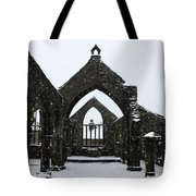 Church Of St Thomas A Becket In Heptonstall In Falling Snow Tote Bag