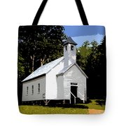 Church Of The Baptist Tote Bag