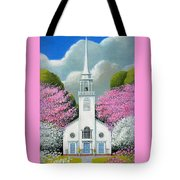 Church Of The Dogwoods Tote Bag
