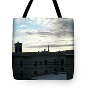 Church Over The City Tote Bag