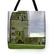 Church Tower - Remains Of St Helens Church Tote Bag