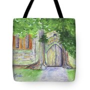 Church Trees Tote Bag