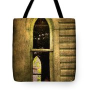 Church Window Church Bell Tote Bag