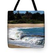 Churning Surf At Monastery Beach Tote Bag