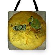 Cicada On Gold Tote Bag