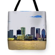 Cigar City Skyline Tote Bag