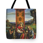 Cima Da Conegliano The Madonna And Child With St John The Baptist And Mary Magdalen Tote Bag