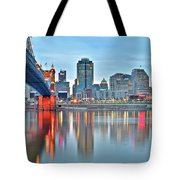 Cincinnati At Ground Level Tote Bag