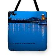 Cincinnati Belle Suspension Bridge Tote Bag