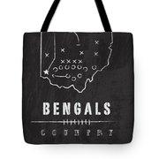 Cincinnati Bengals Art - Nfl Football Wall Print Tote Bag by Damon Gray