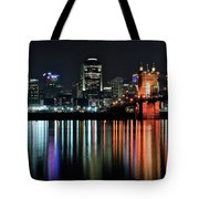 Cincinnati Lights The Ohio River Tote Bag
